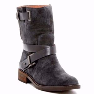 NEW Louise et Cie Valencia Moto Grey Suede Boot